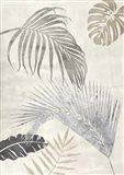 Palm Leaves Silver II Art Print