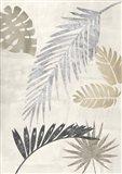 Palm Leaves Silver III Art Print