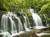Waterfall Purakaunui Falls, New Zealand Art Print