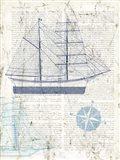 Classic Sailing I Art Print