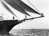 Ship Crewmen Standing on the Bowsprit, 1923 Art Print