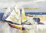Barche Sulla Spiaggia Art Print