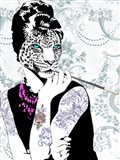 Smoking Diva Art Print