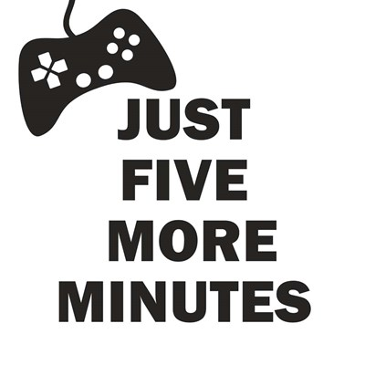 Five More Minutes BW Art Print by Woods