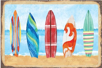 Surf Boards Art Print by ND Art & Design