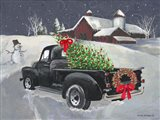 Old Truck and Barn Art Print