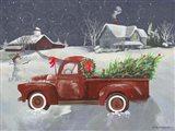 Old Truck and House II Art Print