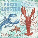 Fresh Lobster - Aqua Art Print