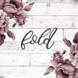 Fold Script Art Print