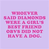 Dogs and Diamonds Art Print