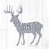 Deer Shiplap Art Print