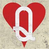 Queen of Hearts Antique Art Print