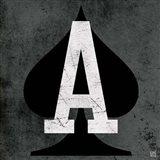 Ace of Spades Gray Art Print
