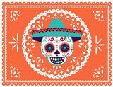 Calavera Orange Art Print