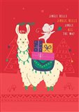 Jingle Bells Llama Art Print