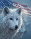 Arctic Wolves America Art Print