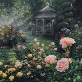 Rose Garden - Paradise Found - Square Art Print