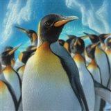 Penguin Paradise - Square Art Print