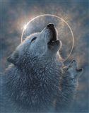 Wolf Eclipse Art Print