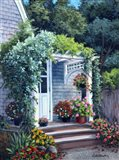 Gray House Arbor Art Print