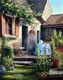 Tea on the Terrace Art Print