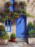 Provence Blue Door Art Print