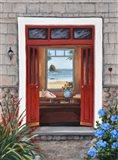 Beach House Entry Art Print