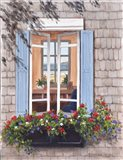 Beach House Window Art Print