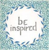 Be Inspired Swirls Art Print