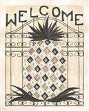 Welcome Pineapple Art Print