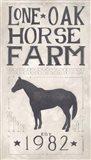 Lone Oak Horse Farm Art Print