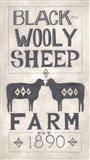 Black Wooly Sheep Art Print