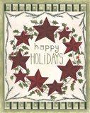Happy Holidays Wreath Art Print