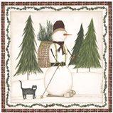 Cross Country Snowman Art Print