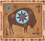 Desert Buffalo Art Print