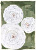 Big White Flowers I Art Print
