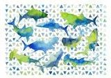 Triangle Sharks Art Print