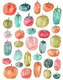 Bright Pumpkins 300 Art Print