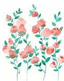 Peach and Mint Art Print
