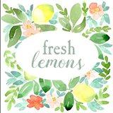 Fresh Lemons Sage Art Print