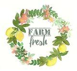 Farm Fresh Wreath Art Print