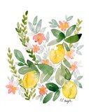 Lemons and Blossoms Art Print