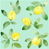 Lemons - Mint Art Print