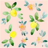 Lemons - Pink Art Print