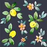 Lemons - Navy Art Print