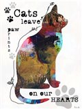 Cats Leave Pawprints Art Print