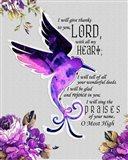 Hummingbird Scripture Art Print