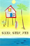 Sand, Surf, Fun Art Print