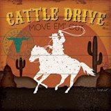 Cattle Drive Art Print