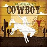 The American Cowboy Art Print